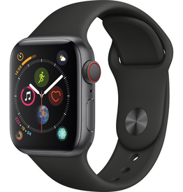 Apple MTUG2LL/A Apple Watch S4 40MM - Space Gray/Black Sport Band (CELLULAR)