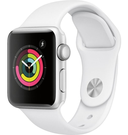 Apple MTEY2LL/A Apple Watch Series 3 38MM - Silver Aluminum/White Sport Band