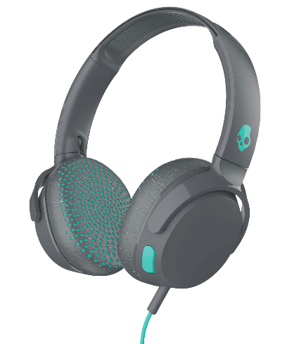 Skullcandy Skullcandy Riff on-ear Headphones w/ Tap Tech - Gray/Speckle/Miami