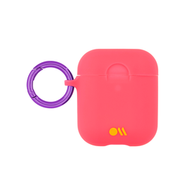 CaseMate Case-Mate Hook UPS Neon AirPod Case- Coral