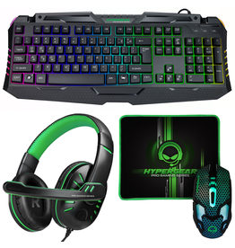 HyperGear HyperGear 4-in-1 Gaming Kit Keyboard, Mouse, Pad, & Headset