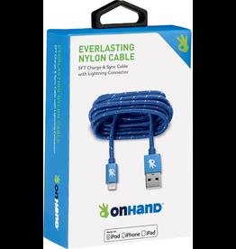OnHand OnHand 5 ft Everlasting Nylon lightning cable - Blue