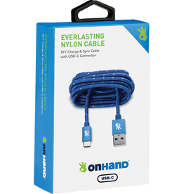 OnHand OnHand USB-C Charging Cable 5ft - Blue