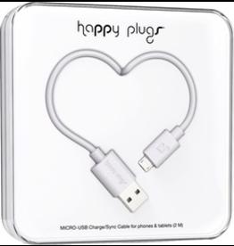 HappyPlugs Happy Plugs Micro-USB Charge Cable 2M - White