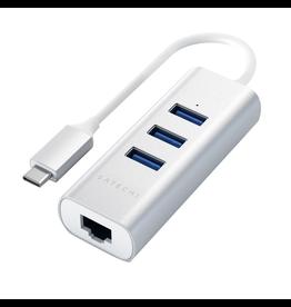Satechi Satechi USB-C Hub [Ethernet, 3xUSB-A] - Silver