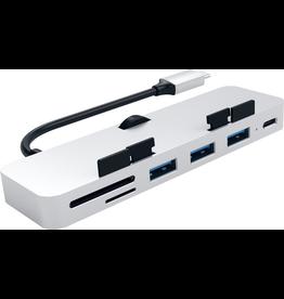 Satechi Satechi iMac Clamp USB-C Hub [SD Card, 3xUSB-A, USB-C]  - Silver