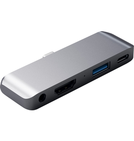 Skullcandy Satechi Mobile Travel Pro USB-C Hub [Aux, HDMI, USB-A, USB-C] - Space Gray