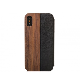 Woodcessories Woodcessories EcoFlip for iPhone X/Xs - Walnut/Leather