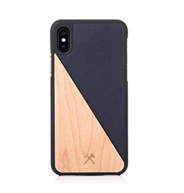 Woodcessories Woodcessories EcoCase for iPhone X - Maple/Navy Blue Leather