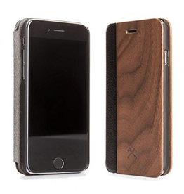 Woodcessories Woodcessories EcoFlip for iPhone 7/8 - Walnut/Leather