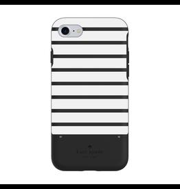 Kate Spade New York Kate Spade Credit Card Case for iPhone 7 - Suprise Stripe Black/White