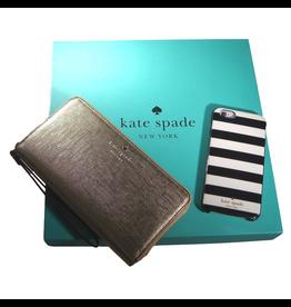 Kate Spade New York Kate Spade Gift Set - Candy Stripe Black/Cream/Gold)