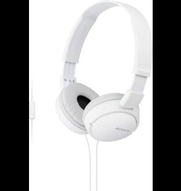 Sony Sony ZX Series Stereo Headphones w/ Mic - White