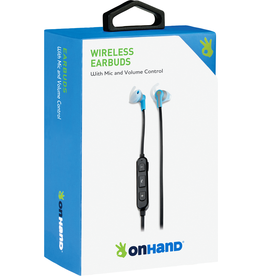 OnHand OnHand BT Earbuds w/ Mic - Blue