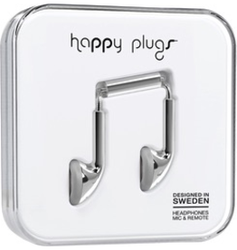 HappyPlugs Happy Plugs Earbuds - Silver