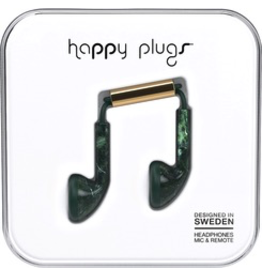 HappyPlugs Happy Plugs Earbuds - Jade Green Marble