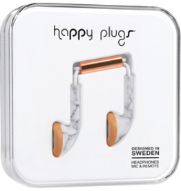 HappyPlugs Happy Plugs Earbuds - White Marble