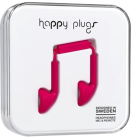 HappyPlugs Happy Plugs Earbuds - cerise