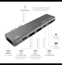 intelliARMOR intelliArmor LynkHUB HD+ 2xUSB-C Hub [2xUSB-C, 2xUSB-A, HDMI, SD Card]