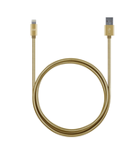 Candywirez Candywirez 3FT Stainless Steel Lightning Cable - Gold