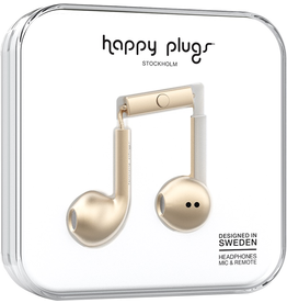 HappyPlugs Happy Plugs earbuds w/ Mic - Matte Gold