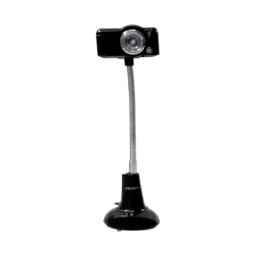 HamiltonBuhl HamiltonBuhl SuperFlix 720p Web Cam Gooseneck Stand - Black-Silver
