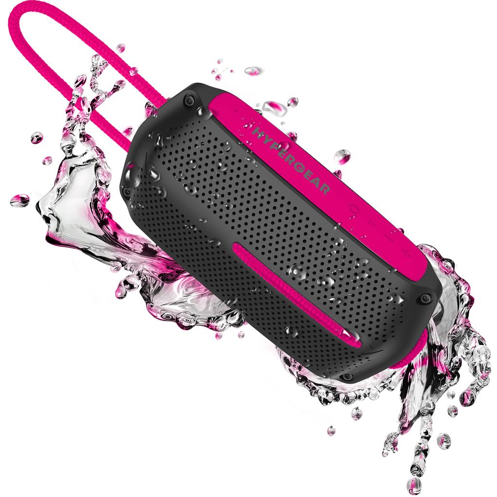 HyperGear HyperGear Wave Water Resistant BT Speaker - Pink/Black