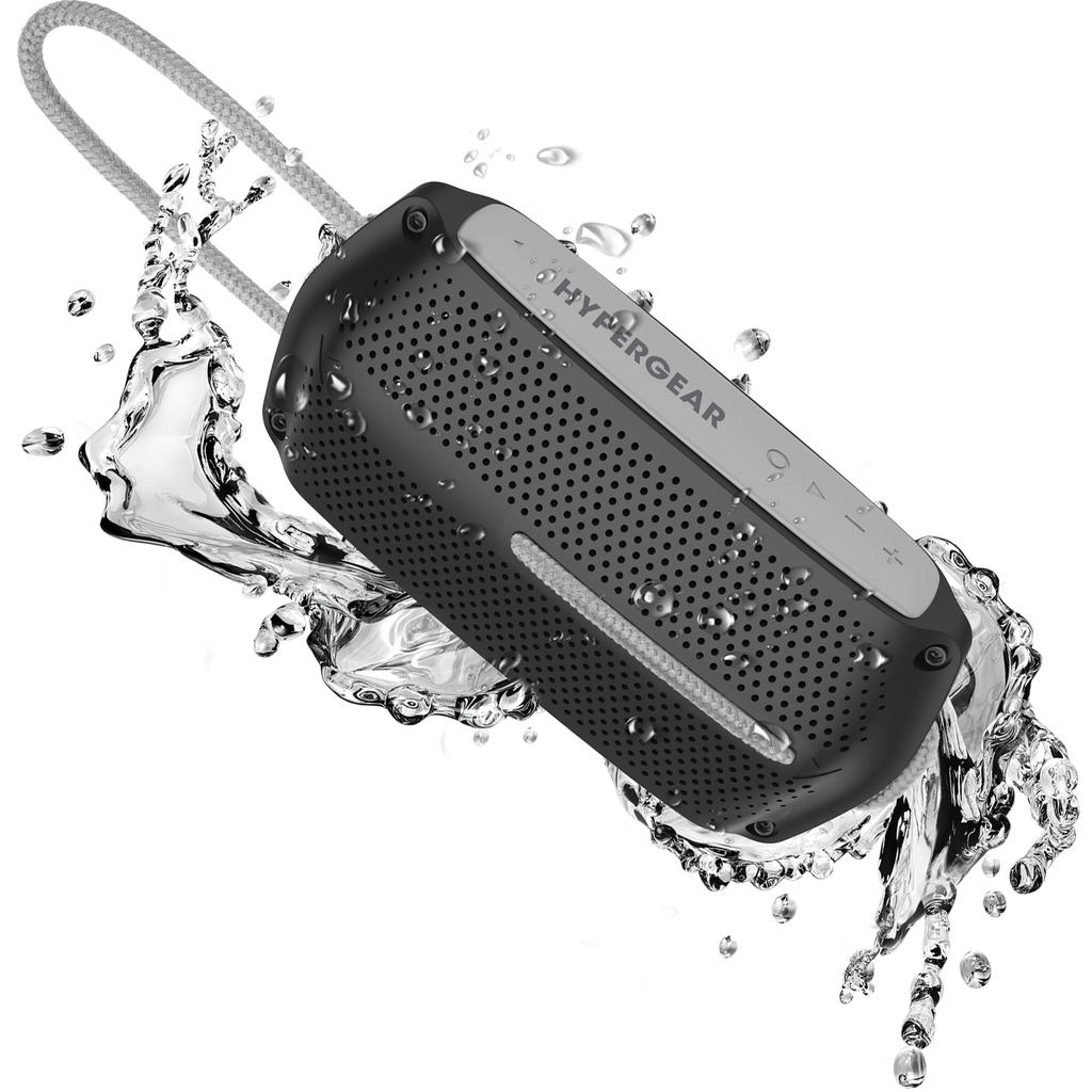 HyperGear HyperGear Wave Water Resistant BT Speaker - Black/Grey