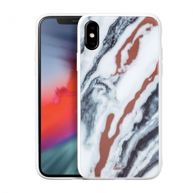 LAUT LAUT Mineral Glass Case for iPhone X - Mineral White