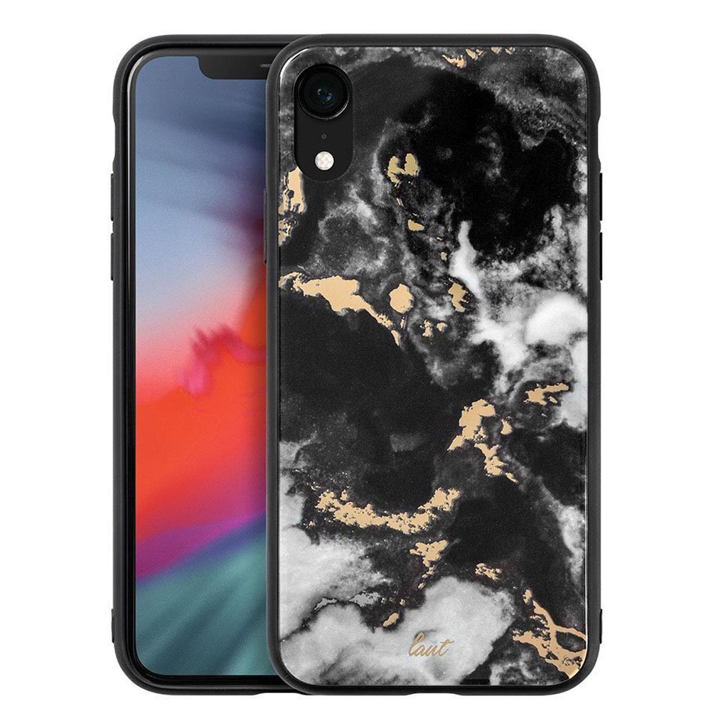 LAUT LAUT Mineral Glass Case for iPhone X - Mineral Black