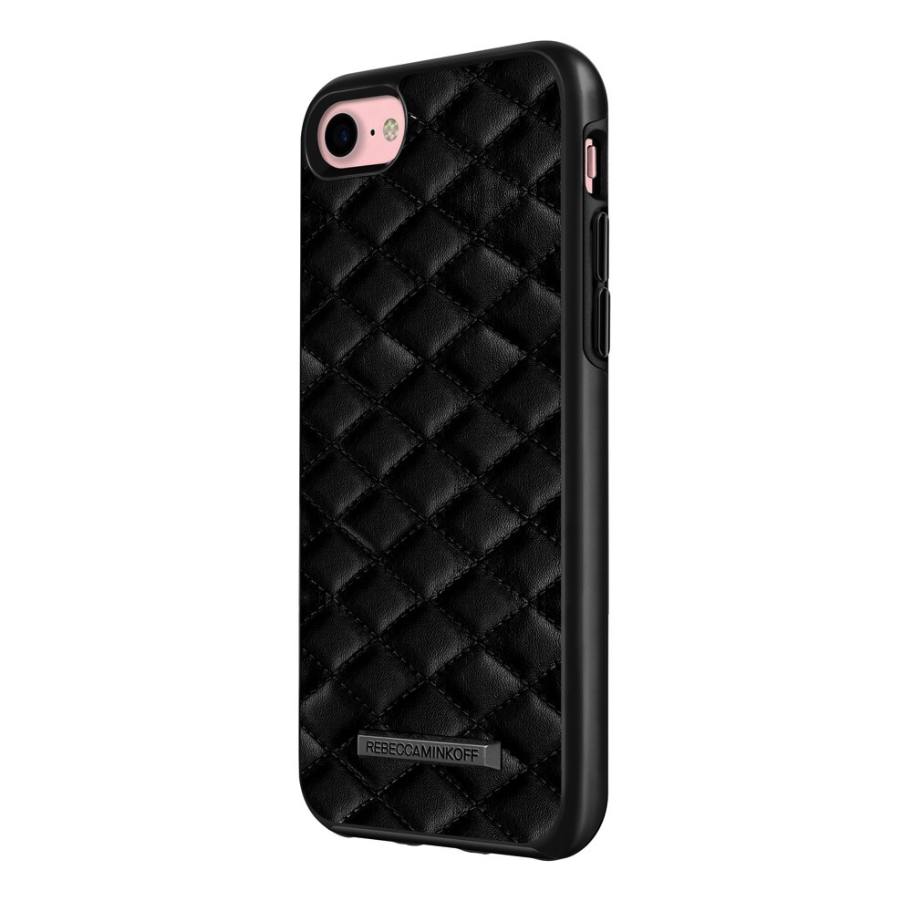 Rebecca Minkoff Luxe Double Up Case for iPhone 7 - Quilted Black