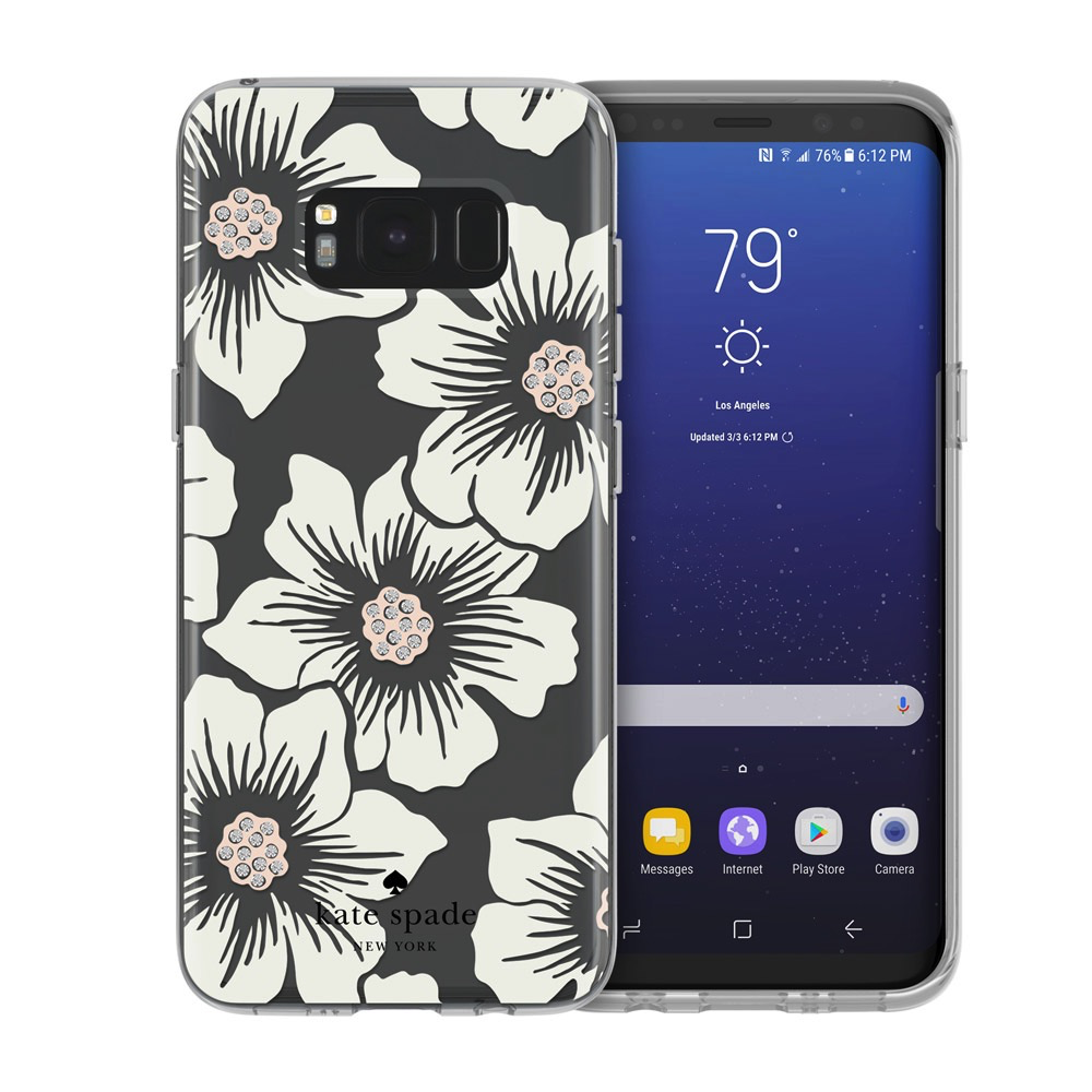 Kate Spade New York Kate Spade Protective Hardshell Case for Samsung Galaxy S8 - Hollyhck Floral Cream