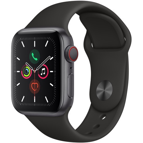 Apple MWWQ2LL/A Apple Watch S5 40MM - Space Gray/Black Sportband (Cellular)
