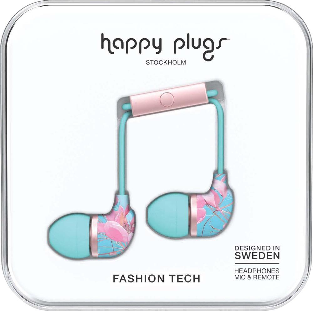 HappyPlugs Happy Plugs In-Ear w/ Mic - Botanica Exotica