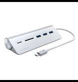 Satechi Satechi USB-C Hub [SD Card, reader, 3xUSB-A] - Silver