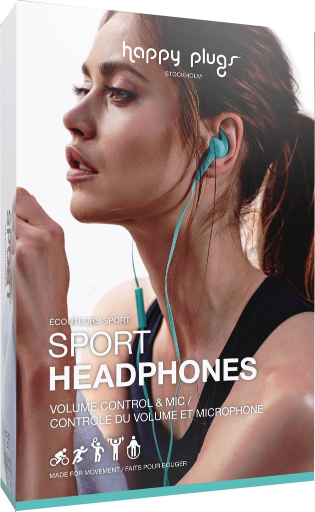 HappyPlugs Happy Plugs Sport Earbuds - Turquoise