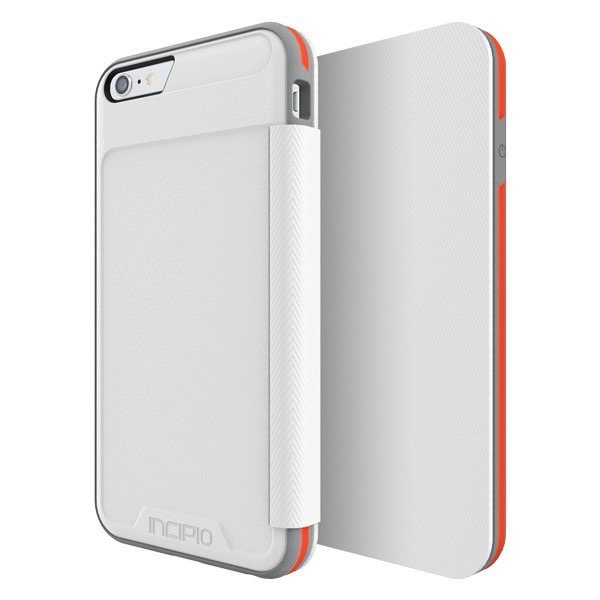 Incipio Incipio iPhone 6 Plus/6s Plus Performance Series Level 3 Folio -White/Orange