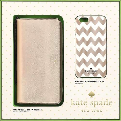 Kate Spade New York Kate Spade Zip Wristlet & Hardshell Case for iPhone 6/6s - Rose Gold/Cream