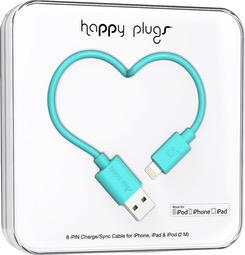 HappyPlugs Happy Plugs Lightning Charge Cable 2M - Turquoise