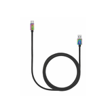 Candywirez Candywirez 6FT Snake Braid USB-C - Black/Rainbow