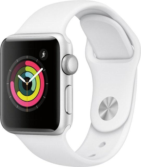 Apple MTEY2LL/A Apple Watch Series 3 38MM - Silver Aluminum/White Sport Band