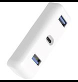 HyperDrive 61W USB-C hub [USB-C 2xUSB-A] - White
