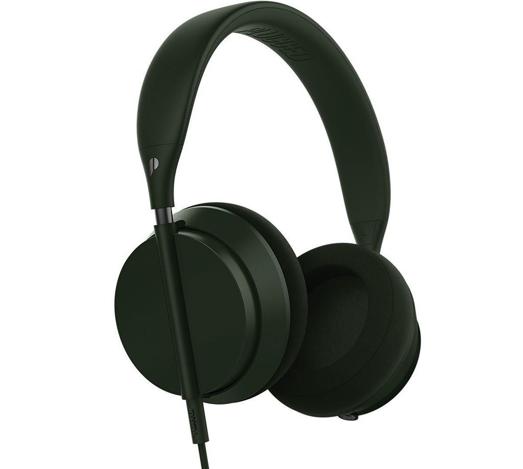 Plugged Crown Series Headphones - Olive/Gunmetal
