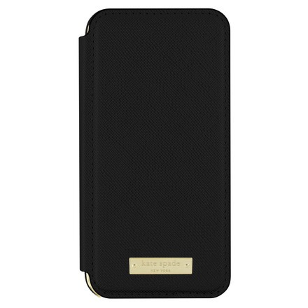 Kate Spade New York Kate Spade Folio Case for iPhone 7 - Saffiano Black/Gold Logo