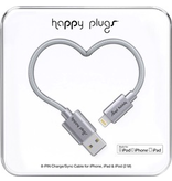 HappyPlugs Happy Plugs Lightning Charge Cable 2M - Space Gray