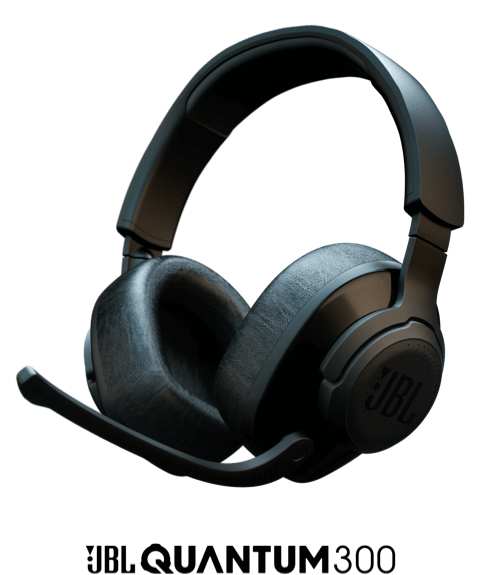 JBL JBL Quantum 300 Wired Gaming Headset - Black