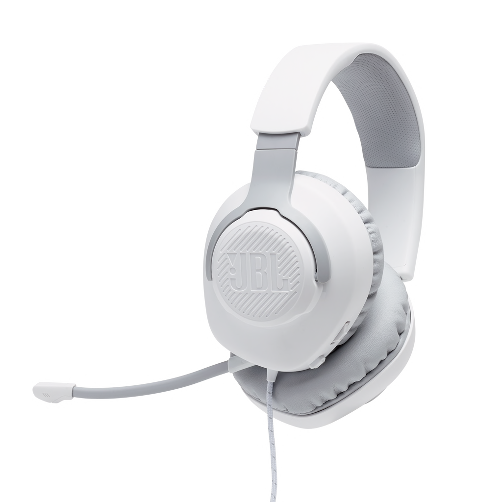 JBL JBL Quantum 100 Wired Gaming Headset - White