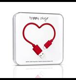 HappyPlugs Happy Plugs 2M Micro-USB Cable - Red