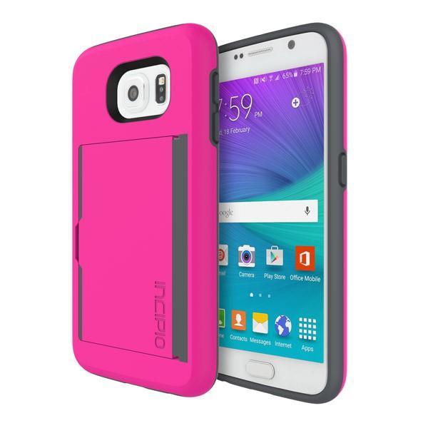 Incipio Incipio STOWAWAY for Galaxy S6 - Pink/Charcoal
