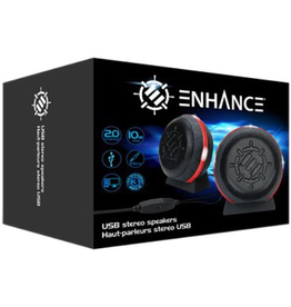 ENHANCE Enhance LED Computer Speakers - Red